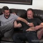 Hairy Masculine Daddy Logan & Bearded Cocksucker Jim Exchange Blowjobs