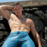 Ripped Straight Stud Danny Klein Jacks Off His Big Cock On A Beautiful Island