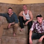 Muscled Military Guys Niko, Cruz & Jaxon In Hot Bathroom Orgy