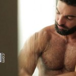 Hairy Bearded Stud Abraham Al Malek Fucks His Buddy Malek Tobias Hard & Deep