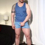 Beefy Bearded Stud Russ Magnus Strokes His Meaty Thick Uncut Cock