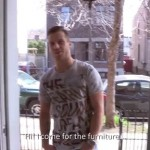 Hot Muscled Moving Man Mike Strokes His Huge Thick Dick