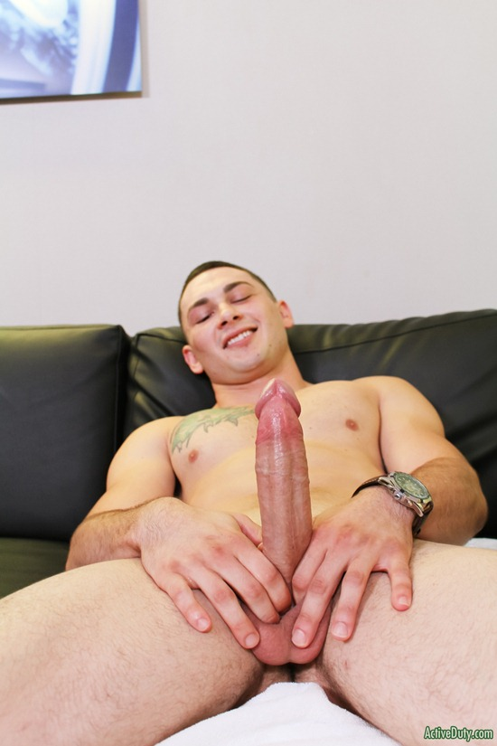 Johnny large dick stroking and cum