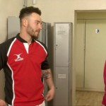 Cocky Rugby Player Brian Gets Fully Examined By Stern Female Physiotherapist