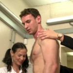 Masculine Hairy Tennis Player Marcus Gets A Huge Boner While Being Inspected By Female Sponsors