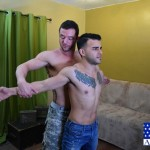 Manly Ripped Lieutenant Zach Takes Care Of Civilian Reid's Tight Ass
