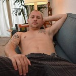 Masculine Straight Dude Sean Collins Strokes His Thick Mushroom Head Cock