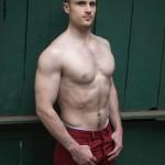 Tall Muscled Dude Jonn Lundgren Strokes His Big Cock