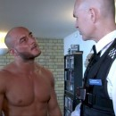 Rough Ripped Bodybuilder David McGuire & His Friend Get Anally Violated By Pervy Uniformed Officers