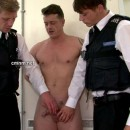 Pervy Police Officers Examine Beefy Hetero Dude's Thick Cock & Tight Asshole