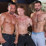 Three Muscled Horny Studs In A Wild Raw Threesome