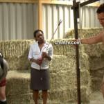 Hunky Farmhand Serves As Live Model For Human Anatomy Explanation