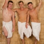 Sean, Blake & Curtis Have A Wild 3-Way Bareback Orgy