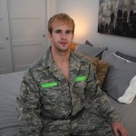 Handsome Beefy Airman Cameron Strokes His Cock & Plays With His Ass
