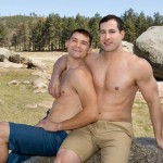 Aggressive Top Liev Barebacks Randy's Tight Straight Ass In The Woods