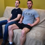 Hot Ripped Military Guys Chris & Zach Arm Wrestle, Then Chris Fucks Zach's Ass Hard & Raw