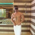Handsome Ripped Stud Dominic Strokes His Huge Thick Tool In The Shower
