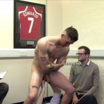 Hot Straight Footballer Connor Gets Fully Inspected By His Pervy Team Owners