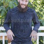 Furry Bearded Yoga Instructor Keanu Strokes His Stiff Cock