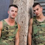 Hot Muscular Military Dudes Quentin & Princeton Flip-Flop Fucking Raw & Hard