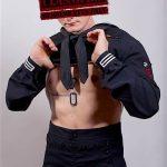 Young Beefy Navy Seaman Lucas Strokes His Big Dick & Shoots A Big Load