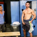Ripped, Extra-Hung Stud Chase Kline Fucks His Buddy Cesar Rossi In The Locker Room