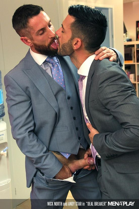 Horny office guys ass pounding