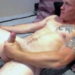 Beefy Masculine Corporal Aamon Strokes His Fat Stiff Cock & Takes a Shower