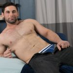 Beefy Manly Hunk Logan Strokes His Big Dick