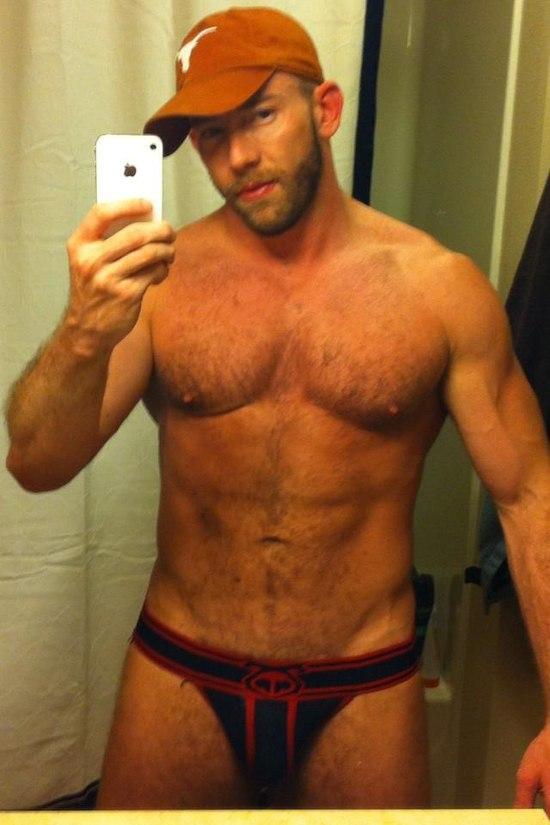Mature naked man selfie