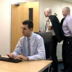 Horny & Handsome Straight Lad Caught Wanking At Work By His Colleagues