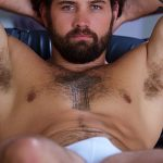 Beefy, Hairy & Inked Sergeant Ragnar Strokes His Hot Stiff Cock & Shoots Big Load