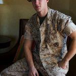 Sexy & Always Horny Marine Corporal Daytona Strokes His Hard Cock & Cums Big