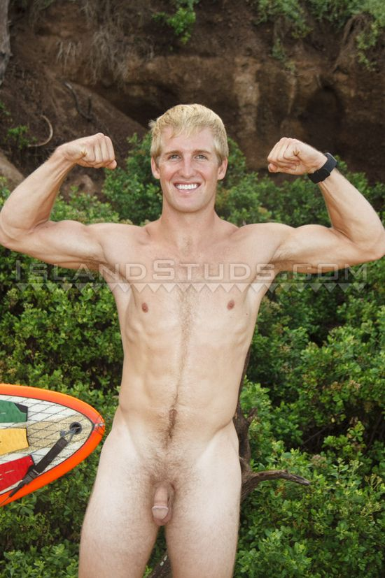 Wild surfer jerk his wild penis
