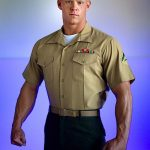 Tall, Ripped Marine Dane Strokes His Hard Cock & Busts His Nut