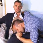 Super Hung Straight Insurer Marc & Hung Neighbor Seb Suck Each Other's Massive Cocks