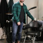 Ripped Hairy Barber Brock Banks Barebacks His Sexy Bearded Client Ian Greene