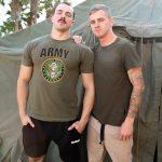 Big, Muscular Army Stud Alex James Fucks Ryan Jordan's Bare Ass Hard & Raw