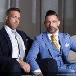 """Sharp-Dressed Andre Bugatti Fucks Alex Mecum Hard & Raw (""""Blackmail"""")"""