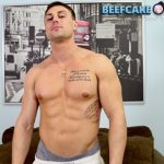 Superhot Ripped Personal Trainer Brad Gets His Huge Fat Cock Deepthroated