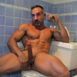 Hot Masculine Muscle Daddy Hunter X Strokes His Huge Stiff Cock