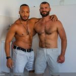 Muscular Hairy Jake Morgan & Hot Horny Dillon Diaz Flip-Flop Fuck In Public Bathroom